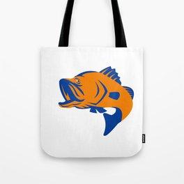 Barramundi Fish Jumping Retro Tote Bag