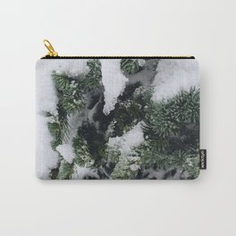 Snow Frosted Pines Carry-All Pouch
