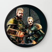 pacific rim Wall Clocks featuring pacific rim by chazstity
