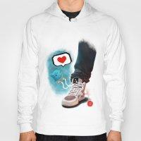 sneaker Hoodies featuring sneaker Love by Dominik Gottherr