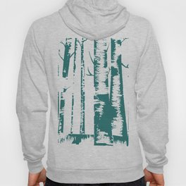 Old Growth Birch Forest in Blue Hoody