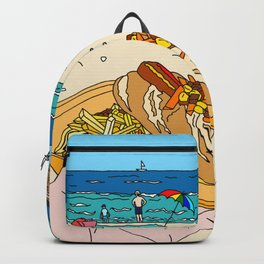 Hotdog on the Beach Backpack