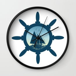 Sailing scene Wall Clock