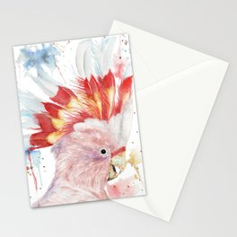 "Watercolor Painting of Picture ""Inca Cockatoo"" Stationery Cards"