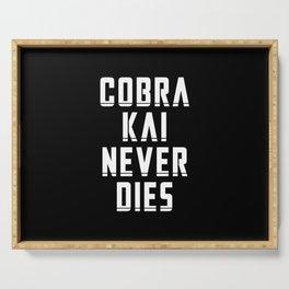 Cobra Kai Never Dies Serving Tray
