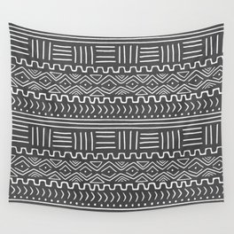 Mud Cloth on Gray Wall Tapestry