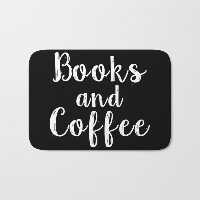 Books and Coffee - Inverted Bath Mat
