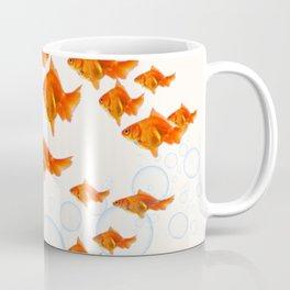 ABSTRACT GOLD FISH SWIMMING ART  DESIGN Coffee Mug