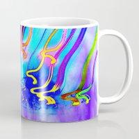 jellyfish Mugs featuring Jellyfish by Serena Gailey