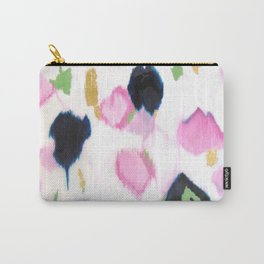 Kenzie - Pink Ikat Carry-All Pouch