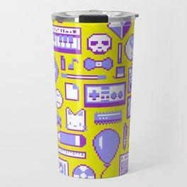 """""""Childhood Memories"""" pixel art poster Travel Mug"""