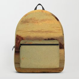 Dawn 1862 By Martin Johnson Heade   Reproduction Backpack