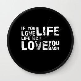 Life Is So Beautiful Wall Clock