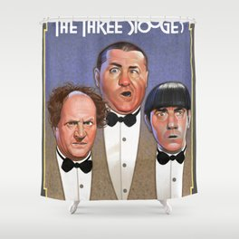 The Three Stooges Shower Curtain
