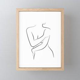 Female Body Line Art - Oh Hana Framed Mini Art Print