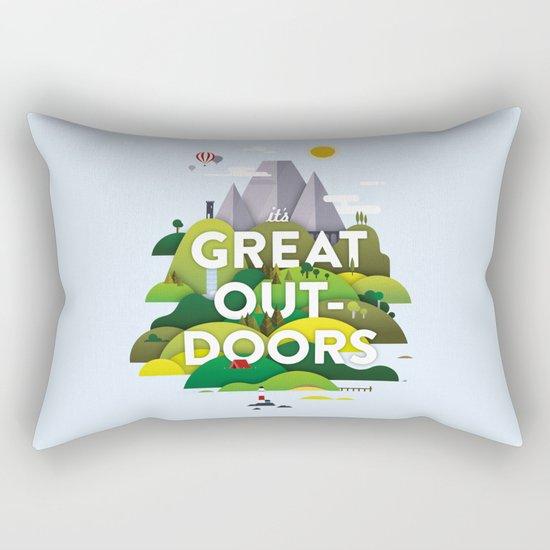 It's Great Outdoors Rectangular Pillow