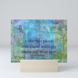 Shakespeare humorous quote Mini Art Print