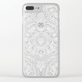 Fade to Teal - watercolor + doodle Clear iPhone Case