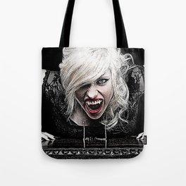 Sexy Female Vampire Tote Bag