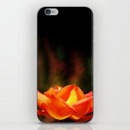 Red Rose Glowing iPhone Skin