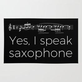 Yes, I speak saxophone Rug