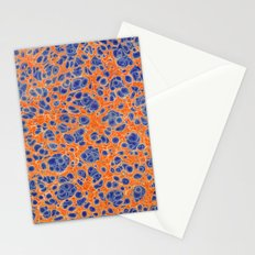 Marbled Blobs Blue and Orange Stationery Cards