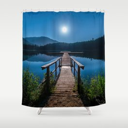 Bright Night Sky at British Columbia Shower Curtain