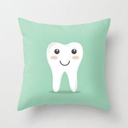 Cute Teeth Throw Pillow