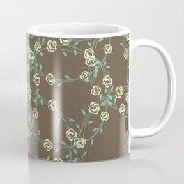 Stringy Flowers Pattern Coffee Mug