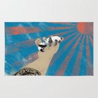 pandas Area & Throw Rugs featuring pandas by Jonathan Sanchez Vargas