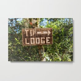 To Lodge Directional Woodsy Photo design Metal Print