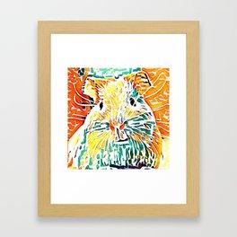 Hot painted Guinea Pig Framed Art Print