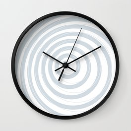 orbits - circle pattern in ice gray and white Wall Clock
