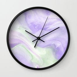 Watercolor Wash (Purple & Green) Wall Clock