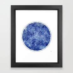 Star Map II Framed Art Print