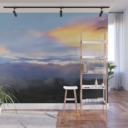 Sunset and cloud drape Wall Mural