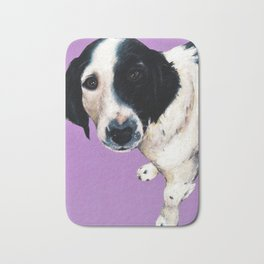 Charlie on lilac Bath Mat
