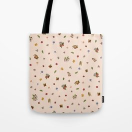 Ice Cream Floral (Salmon) Tote Bag