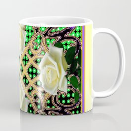 ORNATE ITALIAN STYLE WHITE ROSES Coffee Mug
