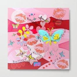 Butterflies and Kisses Metal Print