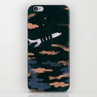 airplanes iPhone & iPod Skins featuring Airplane Angst by Victoria Borges