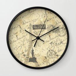 Parisian French Script Wall Clock