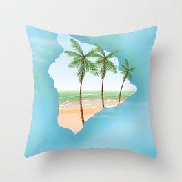 Hawaii Big Island Throw Pillow