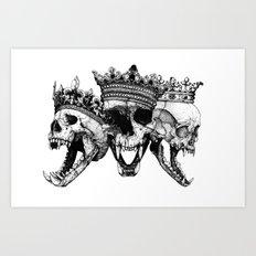 The Ancients kings Art Print