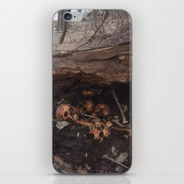 goth graveyard skulls iPhone Skin