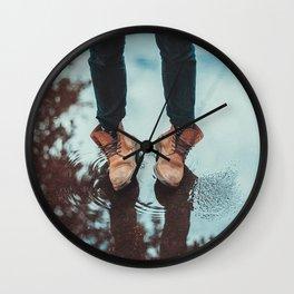 Autumn boots Wall Clock