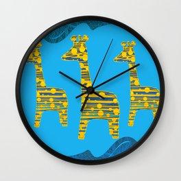 Giraffe Abstract Wall Clock