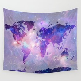 world map galaxy Wall Tapestry