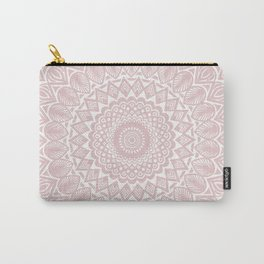 Light Rose Gold Mandala Minimal Minimalistic Carry-All Pouch