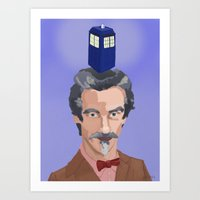 dr who Art Prints featuring Dr Who  by Kervin
